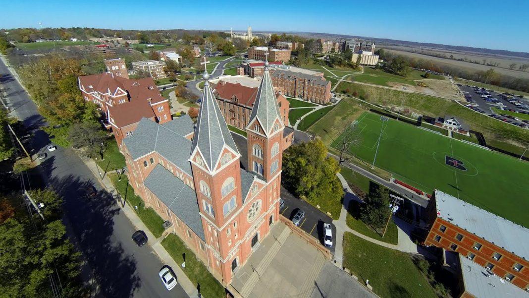 Aerial photo of Benedictine College
