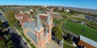 Aerial photo of Benedictine College