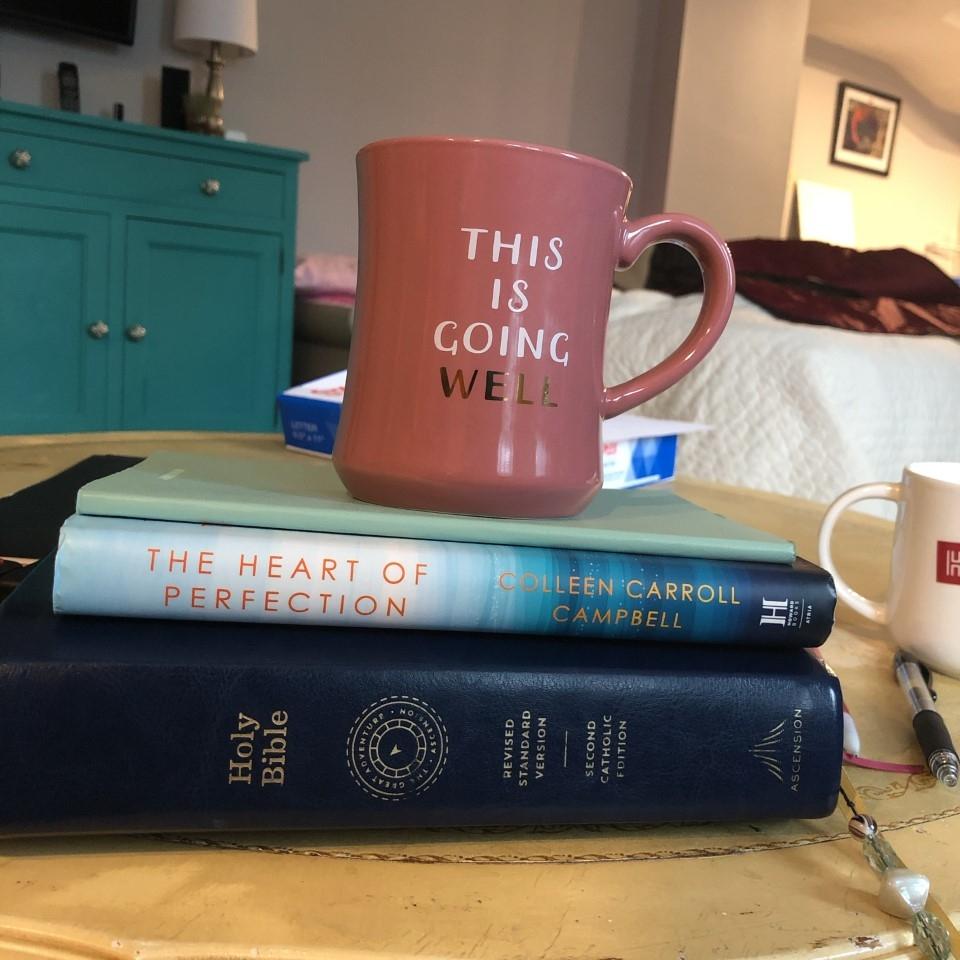 Books and mug