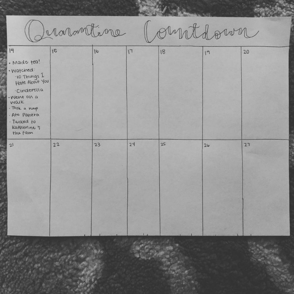 Quarantine Countdown calendar