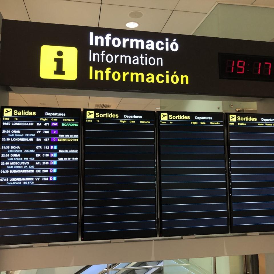 The few flights leaving Spain